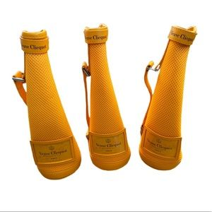 Lot of 3 - Veuve Clicquot Champagne Ice Jackets